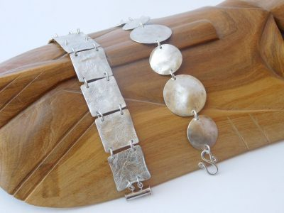 Reticulated Squares and Circles Bracelets