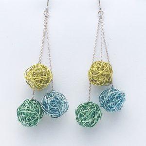 Triple Color Earrings