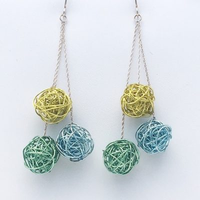 Triple Color Earrings