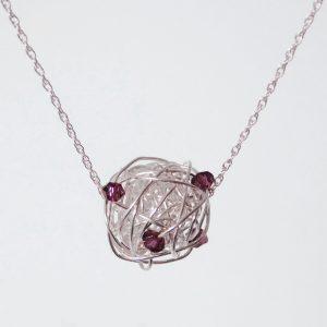 February Birthstone Necklace