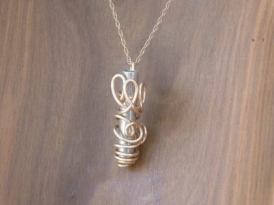 Two Toned Mezuzah Necklace