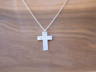 Reticulated Cross Necklace