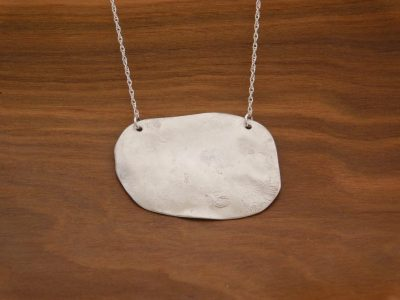 Reticulated Silver Necklace