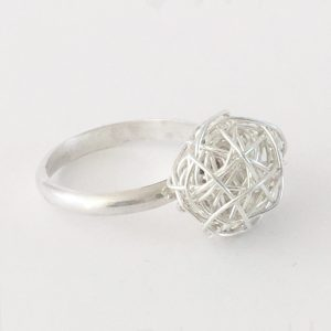 Silverthread Drop Ring