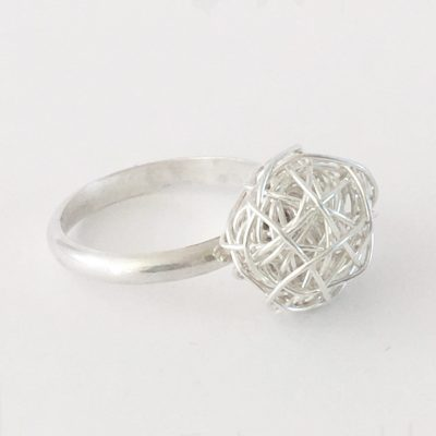 Silverthread Drop Ring