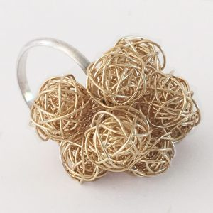 Gold Bobble Ring