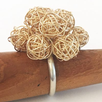 Gold Bobble Ring