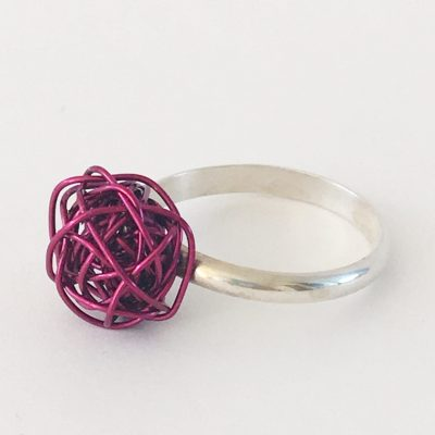 Colorful Silverthread Drop Ring