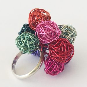 Rainbow Bobble Ring