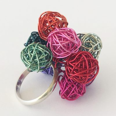 Rainbow Bobble Ring